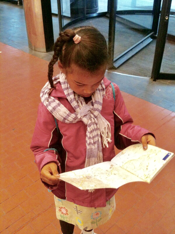 Give kids a map and let them navigate. Photo credit: Monique White