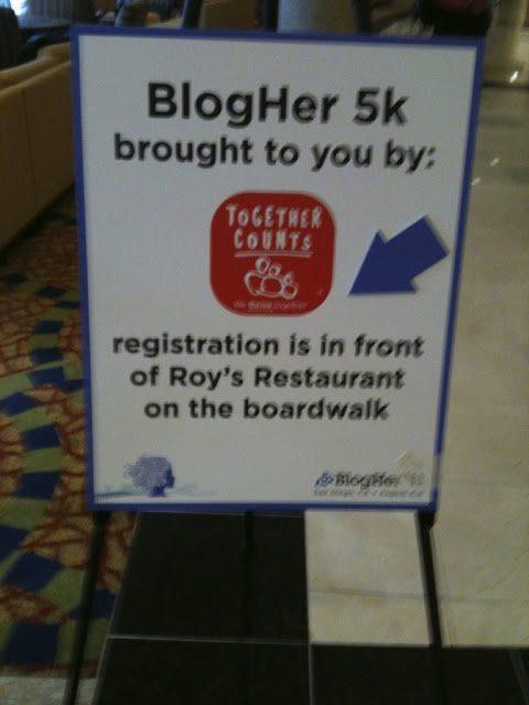 BlogHer '11: Together Counts 5k