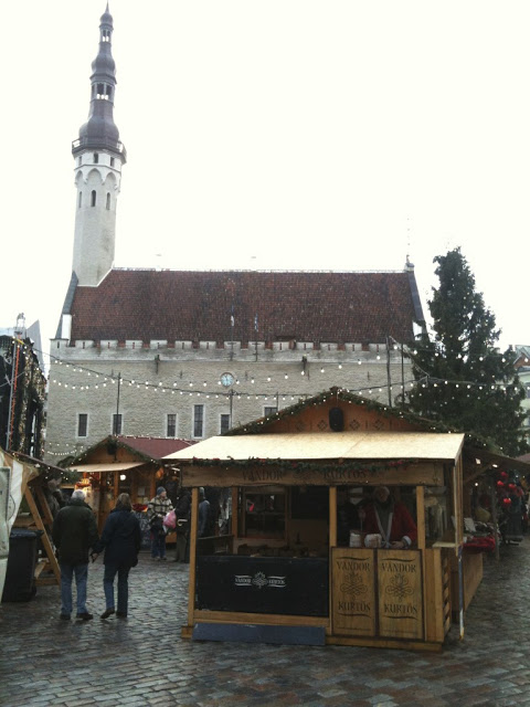 Christmas market at Town Hall Square in Tallinn