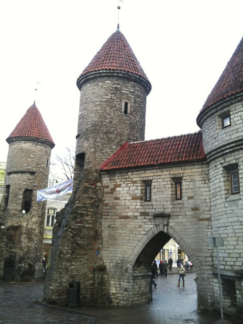 Viru Gate is the main entrance into Old Town in Tallinn