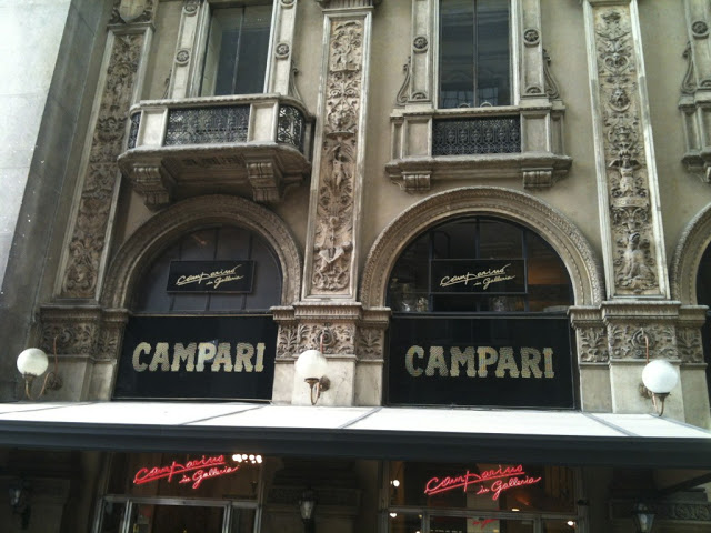 Campari cafe in Milan, Italy is the home of the famous Campari liquer