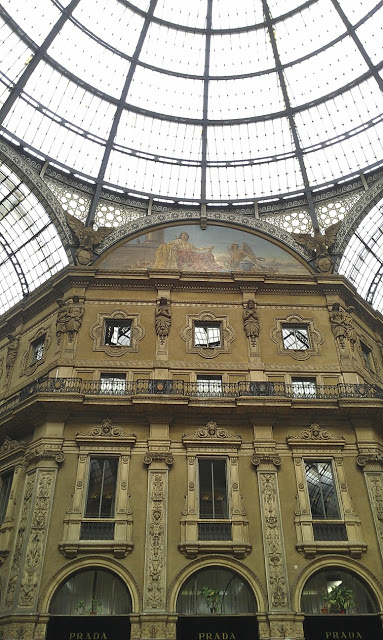 The covered Galleria Vittoria Emanuele in Milan, Italy