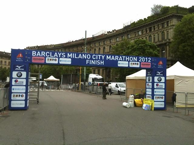 Milano City Marathon finish line