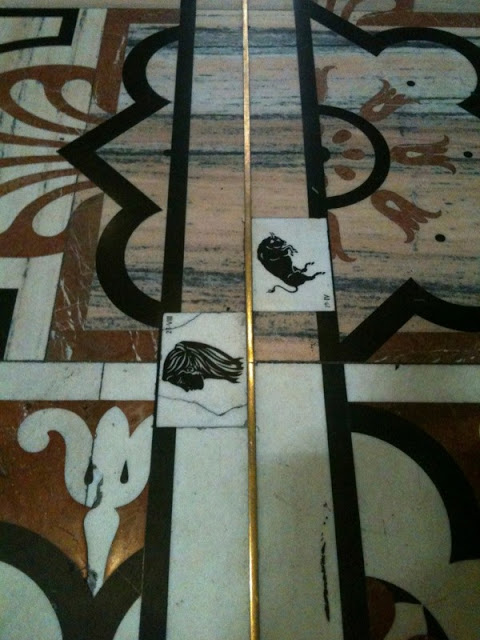 The solar meridian is found at the entrance to the Duomo, with the signs of the zodiac marked at the appropriate spots