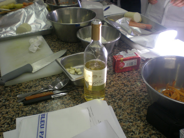 Ingredients for cooking class at Le Cordon Bleu, Paris