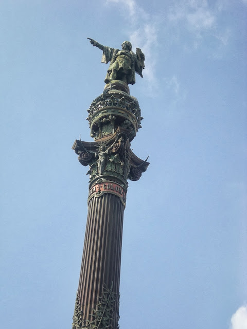 Columbus monument Barcelona, Spain