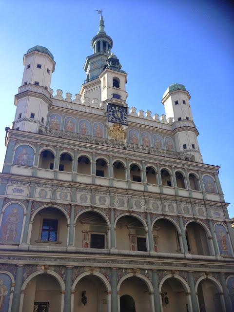 Poznań's ornate Renaissance Town Hall in Stary Rynek
