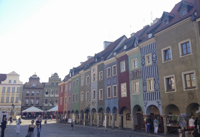 The houses surrounding the Old Market Square in Poznań