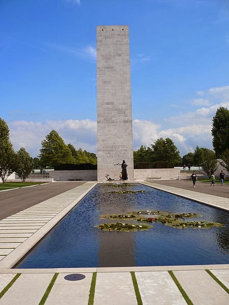 Reflecting pool at The Netherlands American Cemetery and Memorial