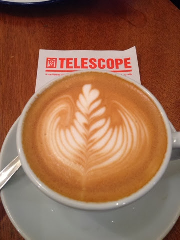 Telescope cafe in Paris makes great coffee