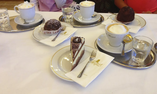 Mozart torte, hot chocolate, Cafe Viennese and other goodies at Cafe Mozart