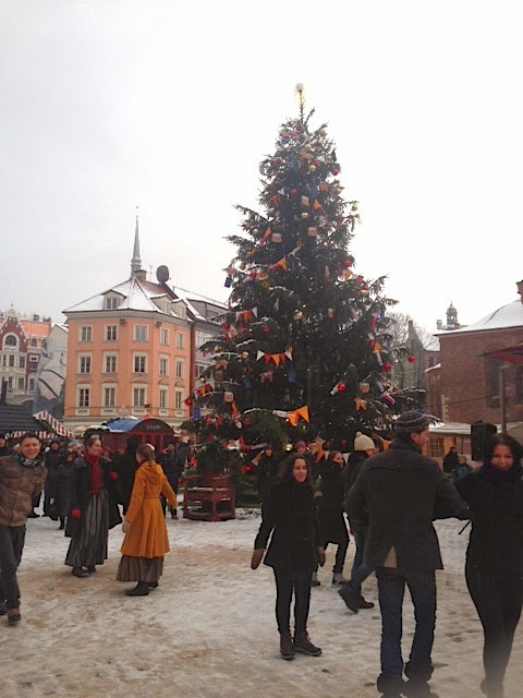 The Christmas market next to Dome Church