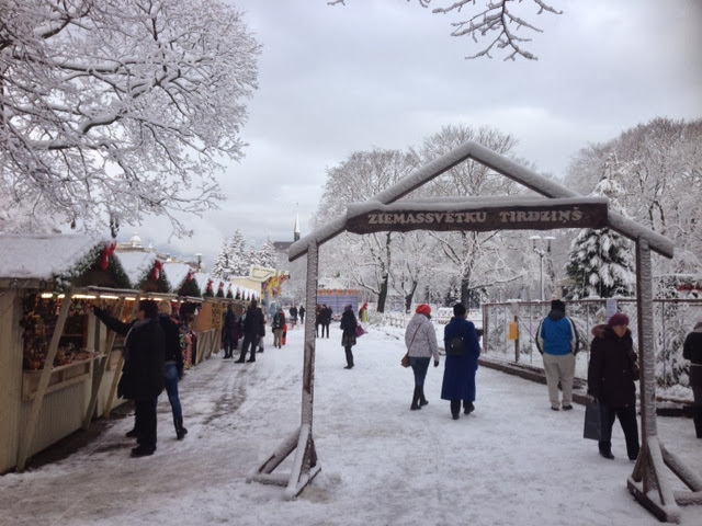 The Christmas market in Esplanāde Park Riga