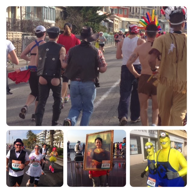 Lots of fun costumes at the Rock 'n' Roll Nice 10 Miles du Carnaval
