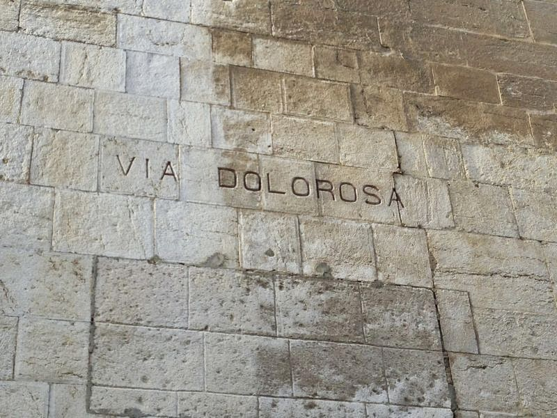 Walking Along the Via Dolorosa