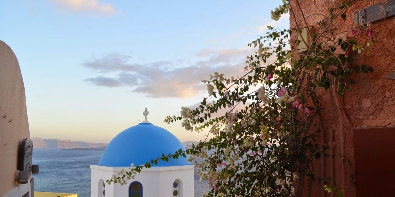 The Pretty Churches of Santorini