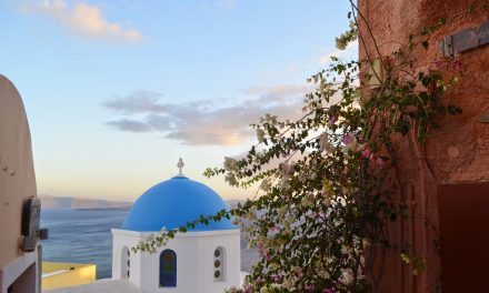 The Pretty Churches of Santorini