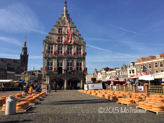 Gouda's gothic town hall and the famous cheese market.
