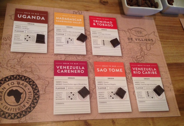 Chocolate tasting at De Villiers Artisan Chocolate