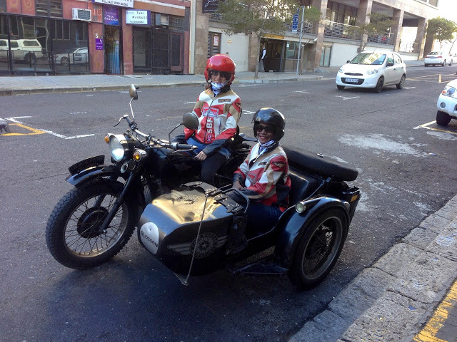A ride through the Cape Winelands in the gorgeous vintage 750cc Sidecar Motorbike
