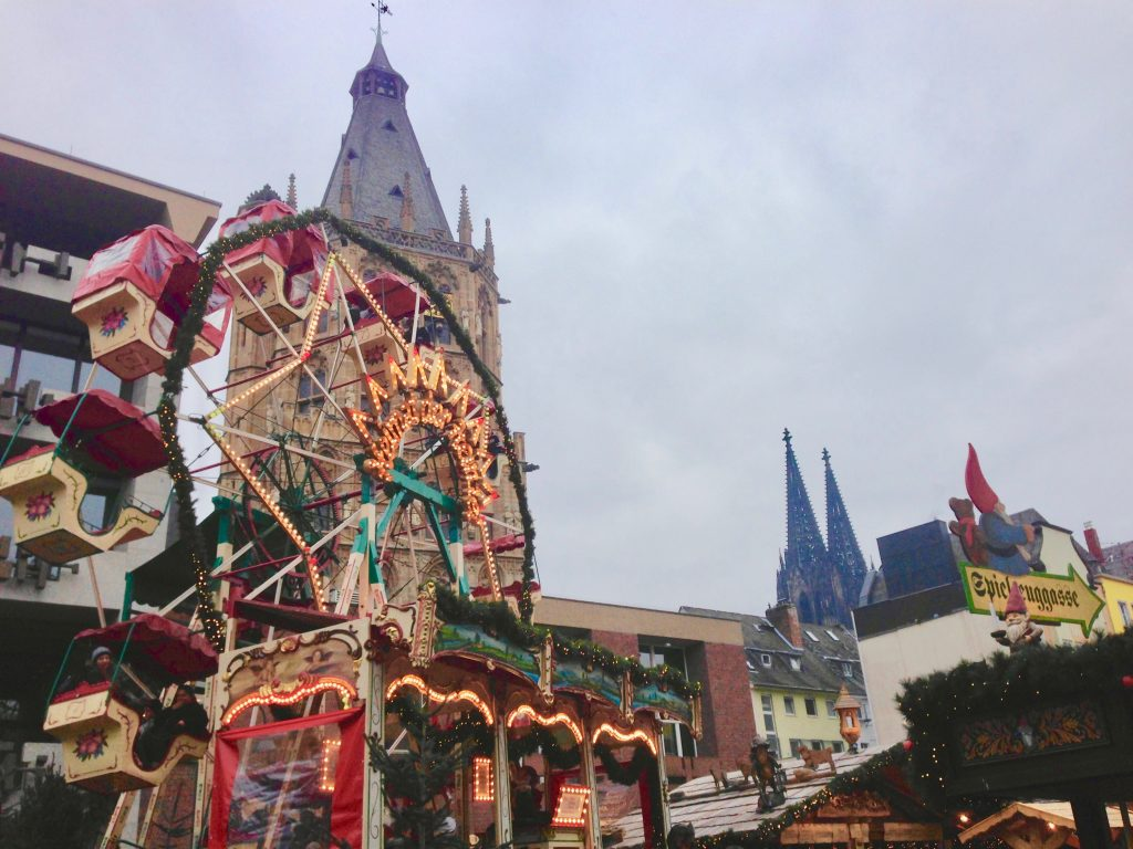 Cologne's legendary house of gnomes, Heimat der Heinzel, with its Ferris wheel and other fun rides, is a great Christmas market for kids. Photo credit: Monique White