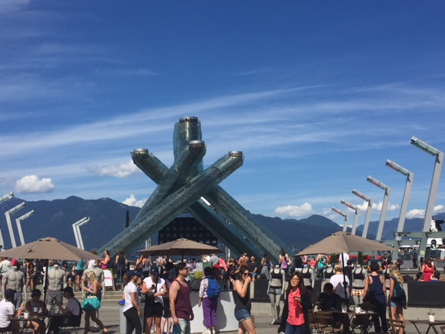 Seawheeze expo in front of the Olympic Cauldron in Vancouver