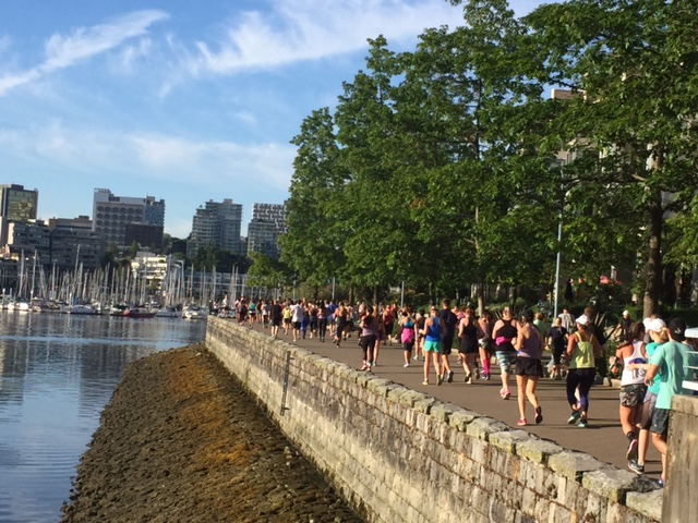 Seawheeze agents hugging Stanley Park's famous Seawall.