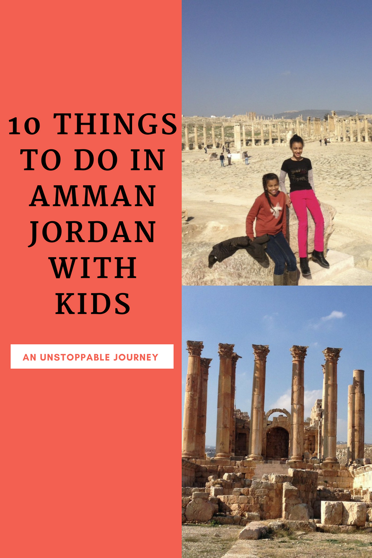 Family-friendly activities for the middle eastern city, Amman in Jordan.