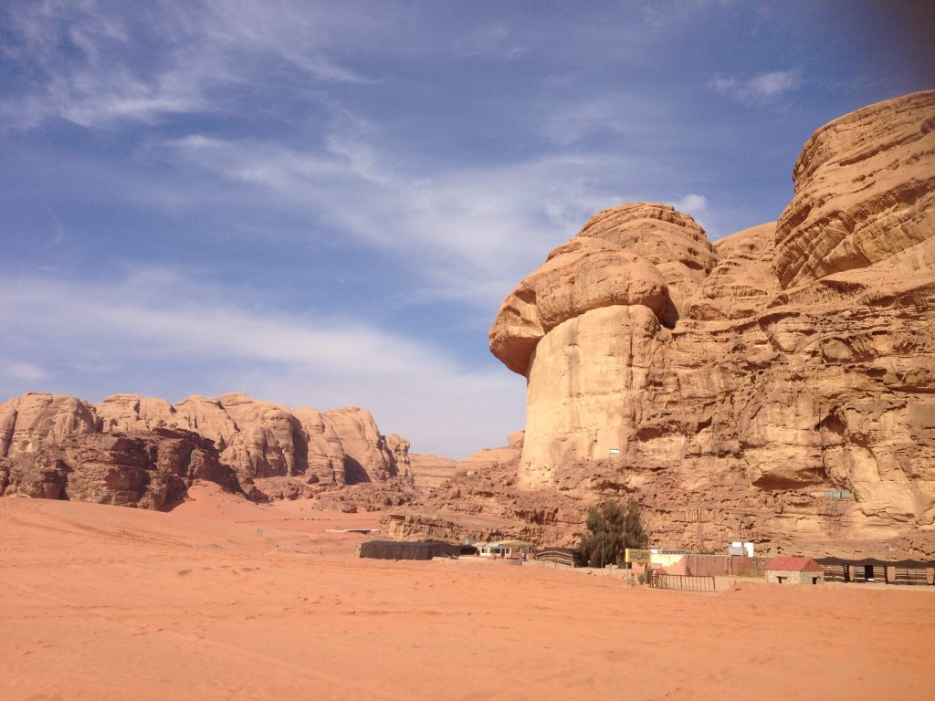 The lunar-like landscape of Wadi Rum