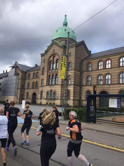Runners pass Copenhagen Botanical Garden during CPH half marathon