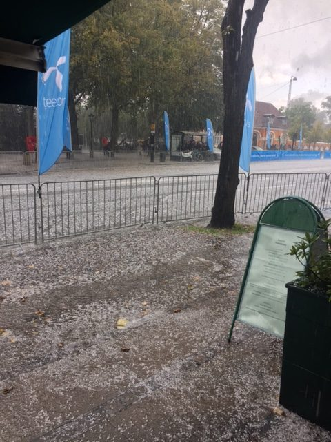 A hail storm during the Copenhagen Half Marathon