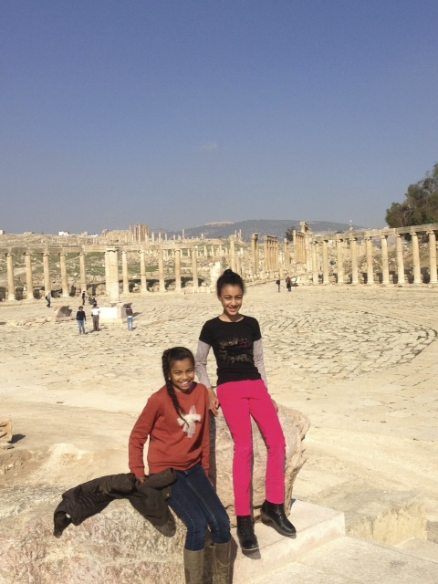 At the Roman ruins in Jerash. www.anunstoppablejourney.com