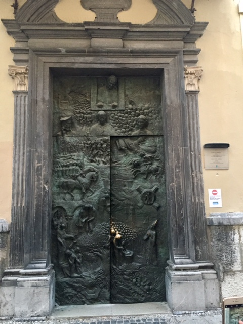 www.anunstoppablejourney.com: 5 Things to See in Ljubljana - Bronze doors of Ljubljana Cathedral or the Church of St. Nicholas
