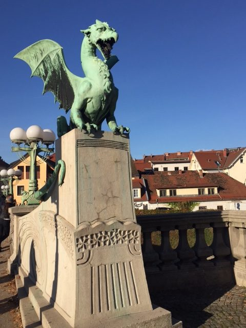 www.anunstoppablejourney.com: 5 Things to See in Ljubljana - the famous Dragon Bridge