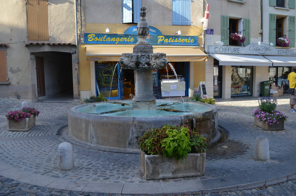 The charming town of Valensole, filled with typical provençal touches, is adorable.