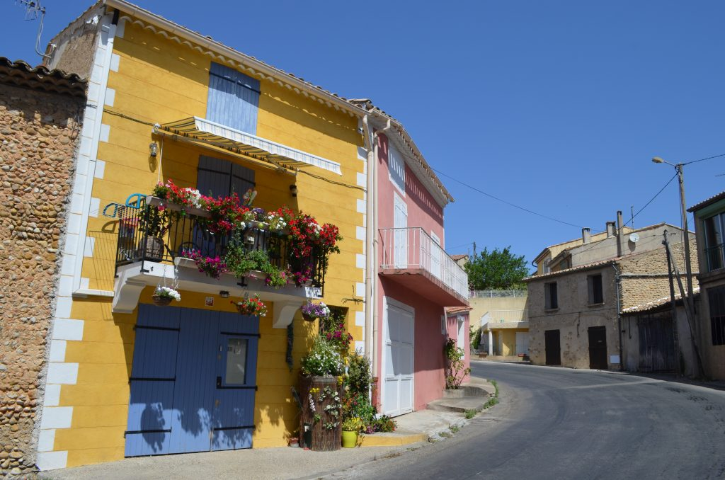 The charming town of Valensole in Provence, France.