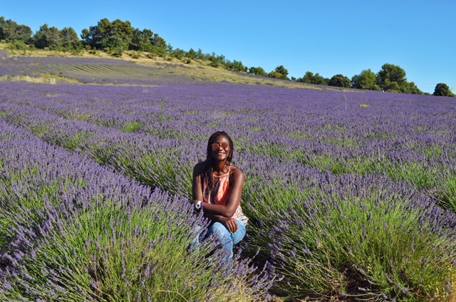 A picture perfect moment in the beautiful lavender fields of Provence.