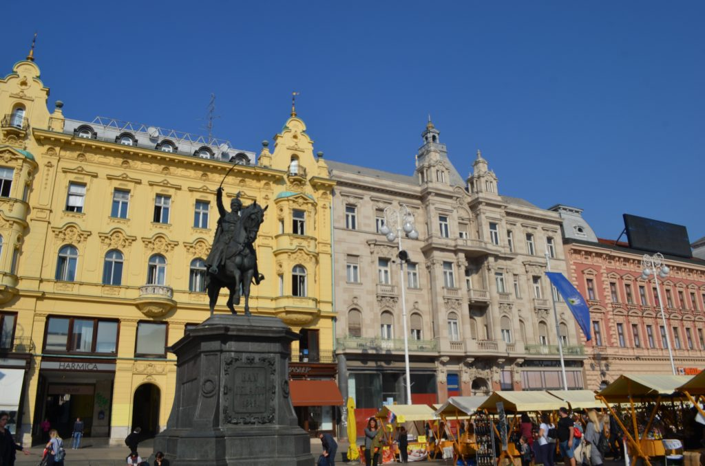Josip Jelačić Square is the central square and heart of Zagreb. www.anunstoppablejourney.com