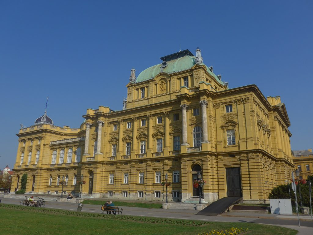 With its Austro-Hungarian architecture and fabulous dome, Zagreb's National Theater is an iconic city landmark. www.anunstoppablejourney.com