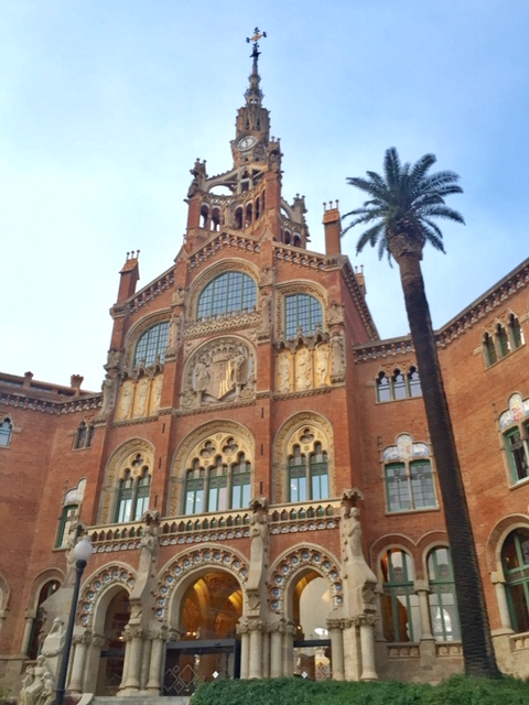 UNESCO World Heritage Site Hospital de Sant Pau was designed by Lluís Domènech i Montaner, and is an example of Catalan Modernista style.