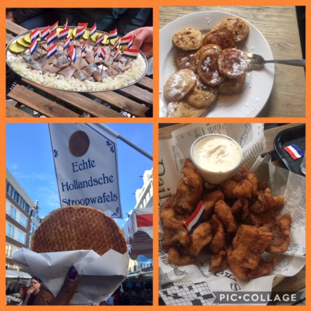 Some favorites of Dutch cuisine include herring, poffertjes, stroopwafel, cheese, and kibbling. Photo: Monique White Expat | Black Expat | Black Women Expats | American overseas | Netherlands | Holland | Expat Life|