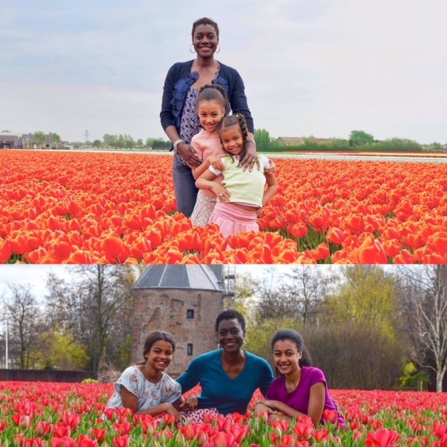 In the bollenstreek (flower fields) with the Lovely Ladies over the years. Expat | Black Expat | Black Women Expats | American overseas | Netherlands | Holland | Expat Life|