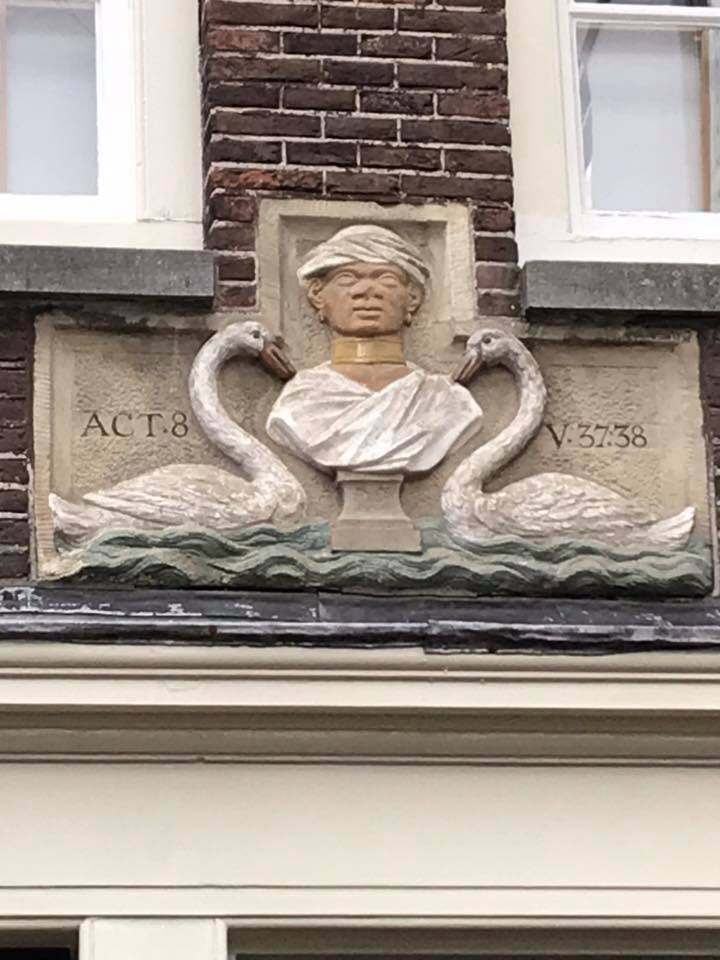The hidden history of people of African descent seen on the Black Amsterdam Heritage Tour includes the first Ethiopian baptized into Christianity in the Bible. He was also 2nd in command to the queen of Ethiopia.