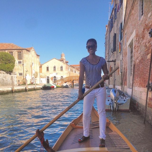 Learning how to be a gondolier...or not.