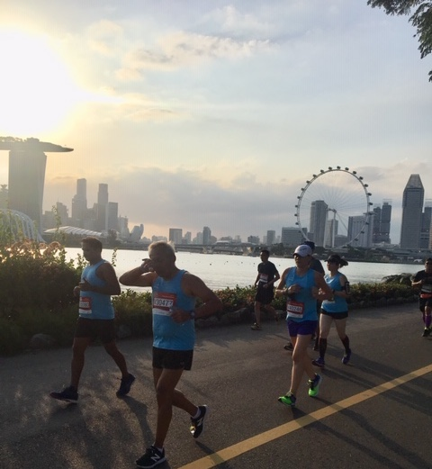 The Herbalife Marina Run is an annual event in Marina Bay, Singapore consisting of a 5k Fun Run, 10k, 21k and 30k. Photo credit: Monique White