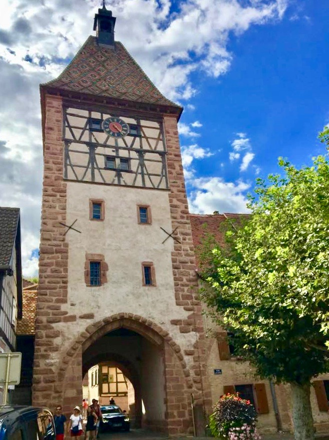 Obertor (Porte Haute), Bergheim's only remaining gate, which dates back to the 14th century. Photo credit: Monique White