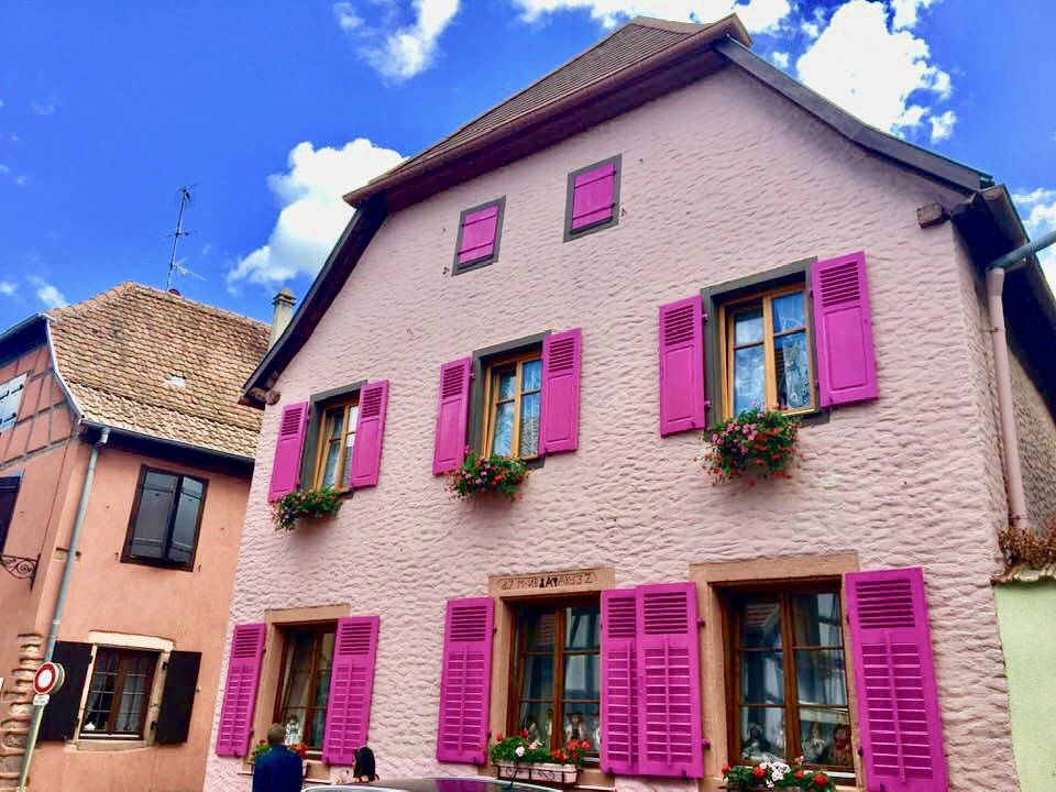 Quaint and colorful, Bergheim is a fully fortified town, surrounded by vineyards and more than a mile of ramparts. Photo credit: Monique White