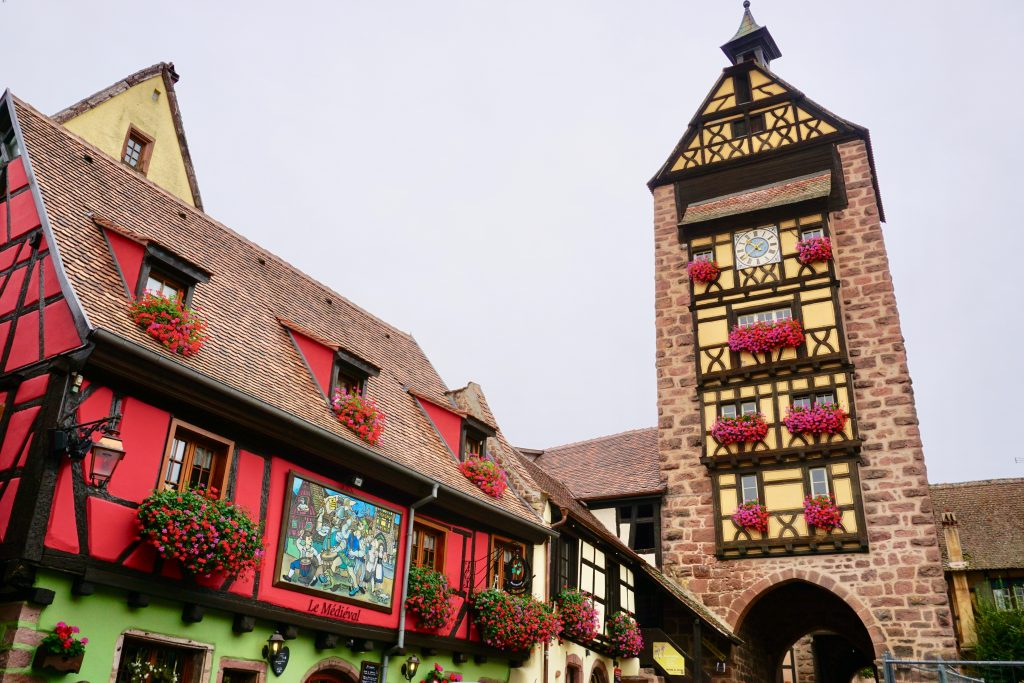 Dolder Tower is the medieval tower that looms over Riquewihr. Photo credit: Monique White