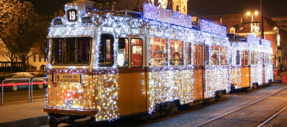 The Budapest Christmas trams run from 5pm to 9pm every evening from December 1 – January 7, and standard tram tickets can be used for the fare (children 6 and under are free). While trams. Photo credit: click and go