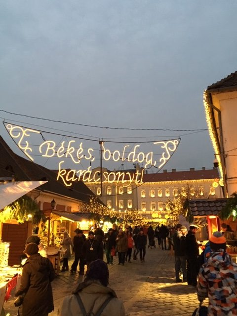 The Óbuda Christmas market, situated around a historical square in an area slightly off the beaten path, and mostly frequented by locals, is extremely charming. Photo credit: Monique White